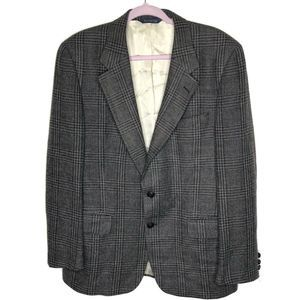 Burberry windowpane tweed 2 button blazer jacket